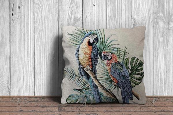 Papagájos díszpárna