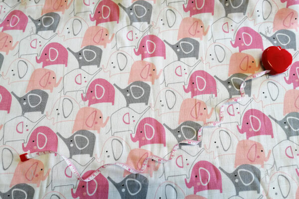 muszlin pelenka rózsaszín elefántos