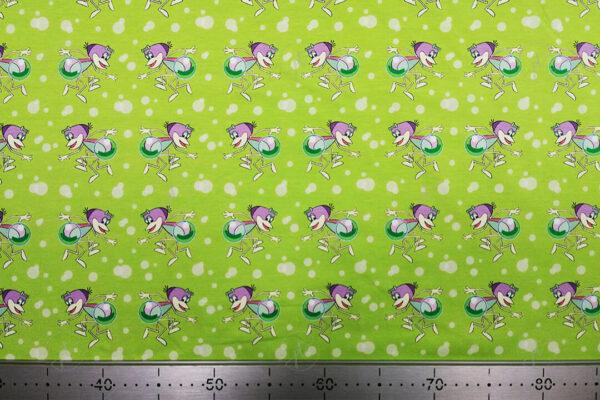 Zöld vízipókos elasztikus jersey