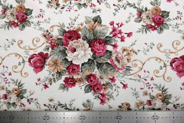 Rózsa csokros vastag vászon