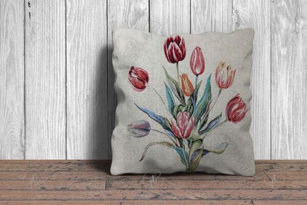 Tulipános díszpárna