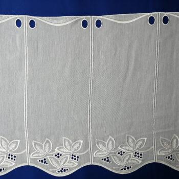 Hímzett batiszt vitrage függöny