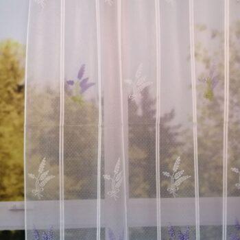 Levendula mintás jacquard függöny