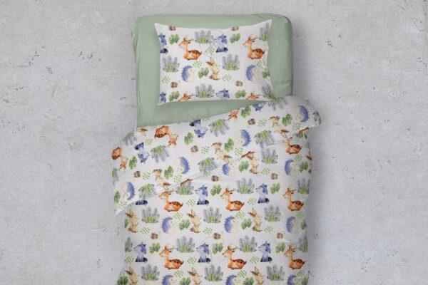 gyerek ágyneműhuzat őzikés