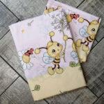 gyerek ágyneműhuzat rózsaszín méhecskés