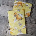 Gyerek ágyneműhuzat sárga macis